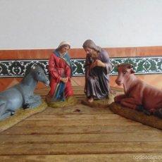 Figuras de Belén: FIGURAS DE BELEN MISTERIO EN ESTUCO SELLADAS OLOT TAMAÑO GRANDE ALTURA 33 CM. Lote 55863659