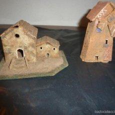 Figuras de Belén: CASA Y MOLINO PARA BELEN DE CORCHO. Lote 55872694
