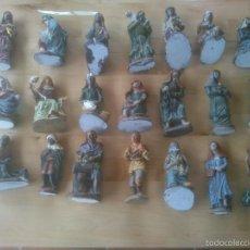 Figuras de Belén: FIGURAS PESEBRE BELEN DE RESINA. Lote 56280752