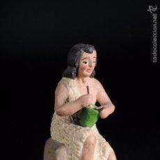 Figuras de Belén: FIGURA DE BELEN O PESEBRE EN TERRACOTA PASTOR CON MORTERO.. Lote 57103590