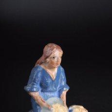 Figuras de Belén: FIGURA DE BELEN O PESEBRE EN TERRACOTA 6 CTMS. ALTURA. Lote 57103625