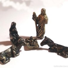 Figuras de Belén: FIGURAS DE BELEN MINIATURAS EN METAL FUNDIDO. NACIMIENTO COMPLETO. PERFECTO. Lote 57676074