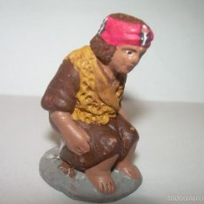 Figuras de Belén: FIGURA DE TERRACOTA....CAGANE - CAGANER - CAGON...FIRMADA..C.F.. Lote 58297045