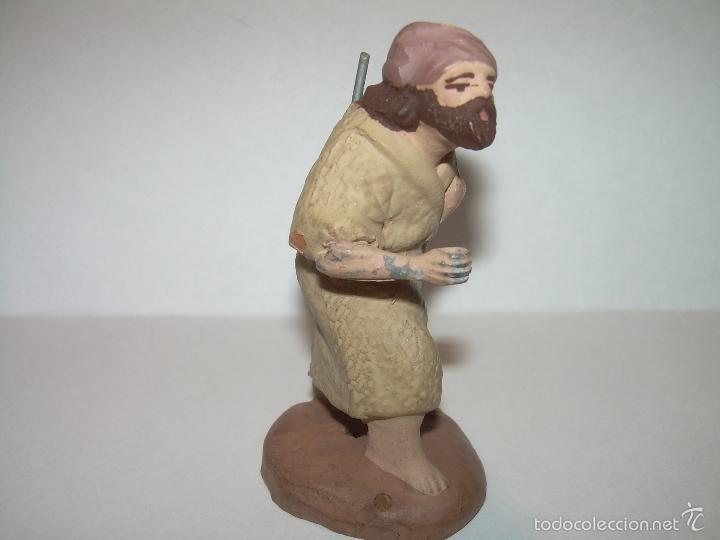 Figuras de Belén: ANTIGUA FIGURA DE TERRACOTA....MANO DE PLOMO. - Foto 2 - 58410682