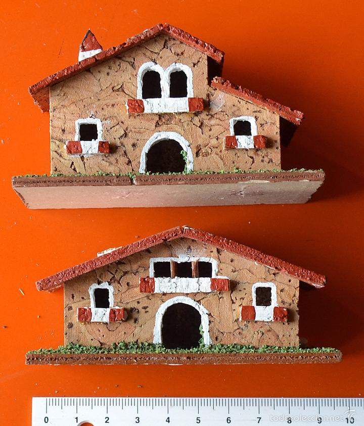 2 casas de corcho para belen o pesebre - Comprar Figuras de Belén ...