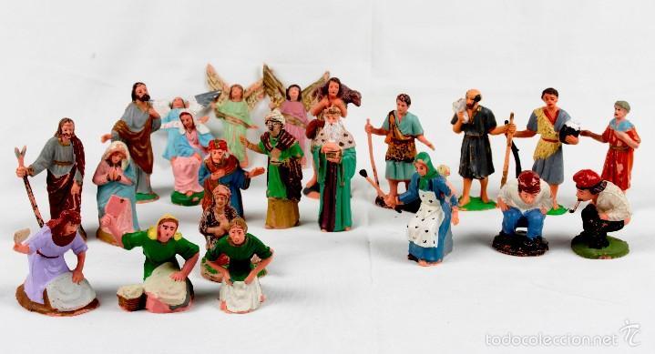 6b3e5c123fd GRUPO 22 FIGURAS PESEBRE EN PLÁSTICO (Coleccionismo - Figuras de Belén)
