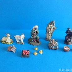 Figuras de Belén: LOTE DE FIGURAS VARIAS EN RESINA - BELÉN, NACIMIENTO, ANIMALES, FIGURAS Y COMPLEMENTOS. Lote 61230951