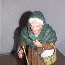 Figuras de Belén: FIGURA BELEN PESEBRE NACIMIENTO BARRO TERRACOTA ANTIGUA. Lote 63485860