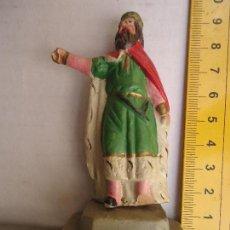 Figuras de Belén: FIGURA DE BELEN TERRACOTA CONJUNTO BARRO PINTADA A MANO CIRCULO ANGEL MARTINEZ. Lote 64576891