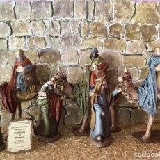 Figuras de Belén: REYES MAGOS A CAMELLO Y PAJES. 12 CMS. DECORARTE. Lote 66129814