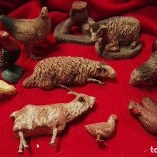 Figuras de Belén: LOTE FIGURAS ANIMALES ANTIGUAS BELEN TERRACOTA.. Lote 66281462