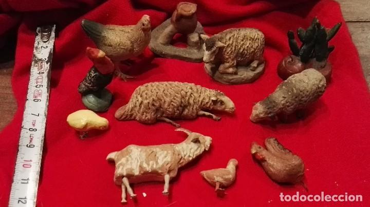 Figuras de Belén: LOTE FIGURAS ANIMALES ANTIGUAS BELEN TERRACOTA. - Foto 7 - 66281462