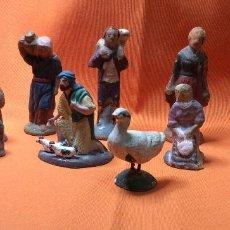 Figuras de Belén: CONJUNTO DE FIGURAS ANTIGUAS DE PESEBRE. Lote 66316254