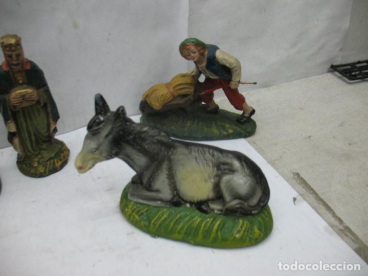 Figuras de Belén: Antiguo Nacimiento Portal de Belén Misterio italia - Foto 5 - 67239661