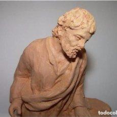 Figuras de Belén: JULIÀ FÀBREGAS I DACH (VIC 1886-1966)-FIGURA DE BELÉN COSTUMBRISTA EN TERRACOTA......FIRMADA.. Lote 67826429