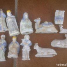 Figuras de Belén: PEQUEÑO BELÉN CON FIGURAS DE PORCELANA.. Lote 68621401
