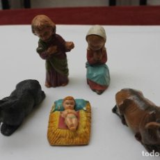 Figuras de Belén: NACIMIENTO FIGURAS DE BELEN, CABEZONES EN PLASTICO DURO, DE MIRETE, ANTIGUO. Lote 68757997
