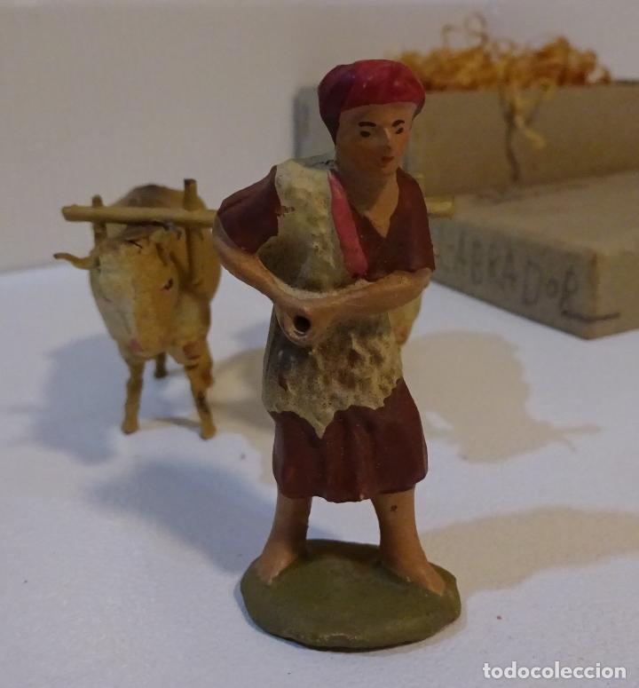 Figuras de Belén: FIGURAS DE CERÁMICA LABRADOR CON ARADO Y DOS BUEYES. ALTURA LABRADOR 6 CM - Foto 7 - 68941121