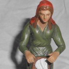 Figuras de Belén: BELÉN O NACIMIENTO, LAVANDERA DE BARRO, 10 CM. . Lote 69669501