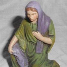 Figuras de Belén: BELÉN O NACIMIENTO, VIRGEN DE BARRO, 10 CM.. Lote 69672937