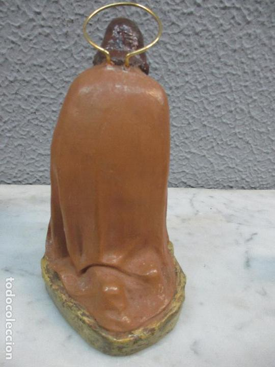 Figuras de Belén: Antiguas Figuras de Belén - Nacimiento - Reyes - Yeso Policromado - 17 cm Altura - Talleres de Olot - Foto 7 - 70150933
