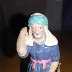 Figuras de Belén: FIGURA BELEN PESEBRE NACIMIENTO BARRO TERRACOTA MUY ANTIGUA. Lote 73644571