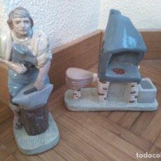 Figuras de Belén: HERRERO Y FRAGUA DE ESCAYOLA PARA BELEN . Lote 73701735