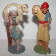 Figuras de Belén: ANTIGUAS FIGURAS DE TERRACOTA.. Lote 76863439