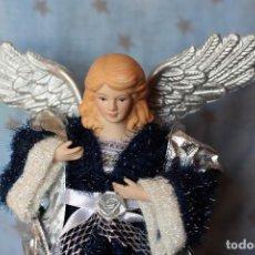 Figuras de Belén: IMAGEN ANGEL BELEN DE TELA Y PORCELANA BISCUIT AÑOS 80 ESTILO NAPOLITANO. Lote 77501153