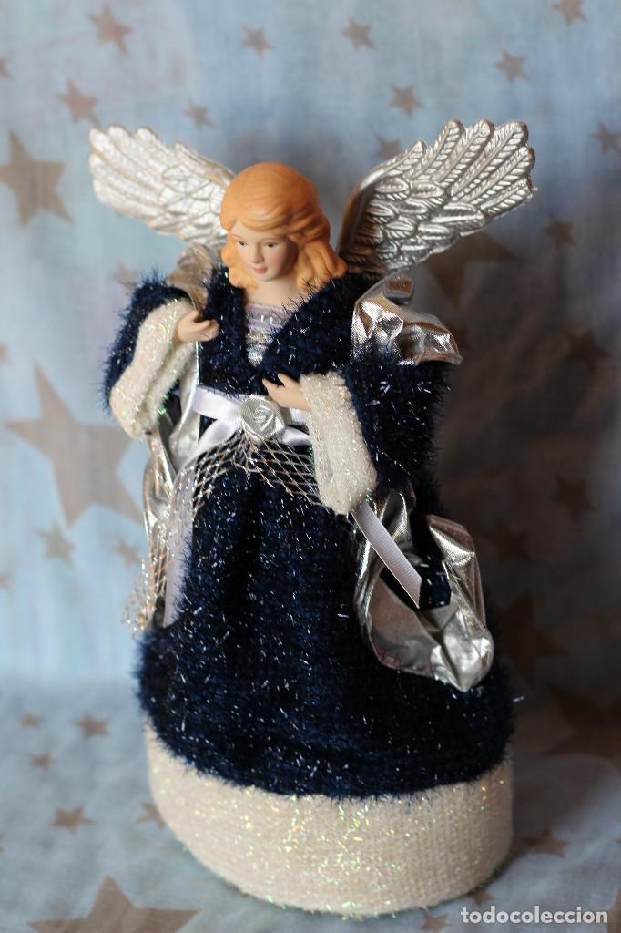 Figuras de Belén: IMAGEN ANGEL BELEN DE TELA Y PORCELANA BISCUIT AÑOS 80 ESTILO NAPOLITANO - Foto 3 - 77501153