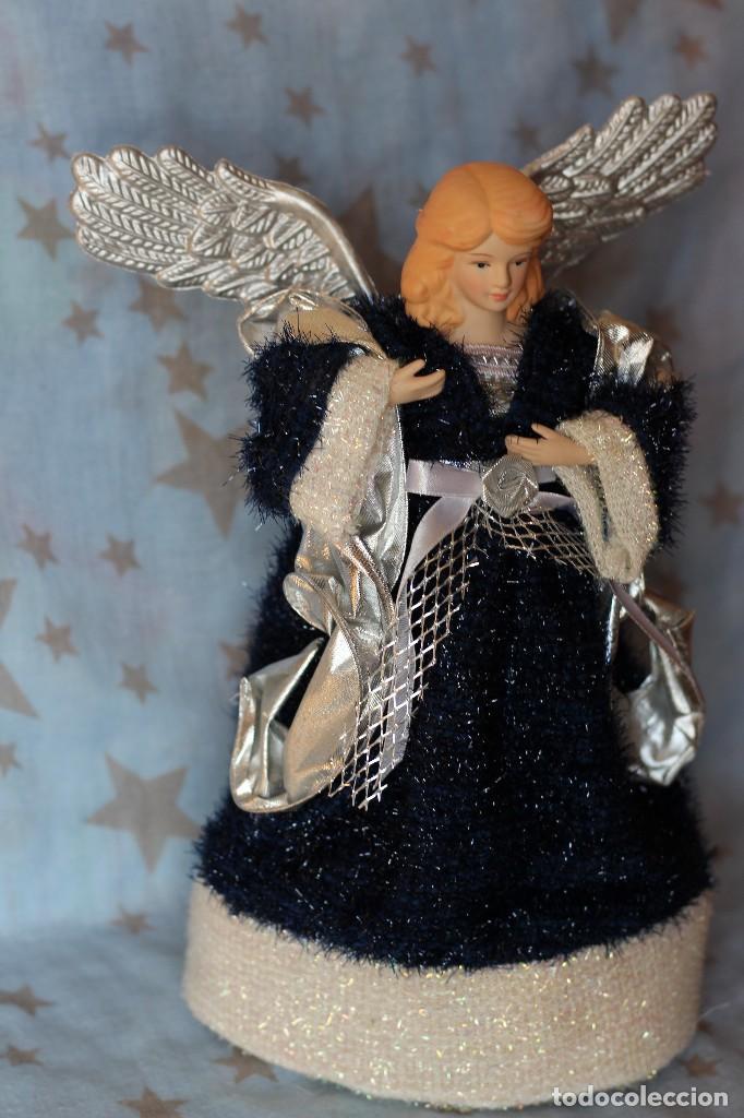 Figuras de Belén: IMAGEN ANGEL BELEN DE TELA Y PORCELANA BISCUIT AÑOS 80 ESTILO NAPOLITANO - Foto 4 - 77501153