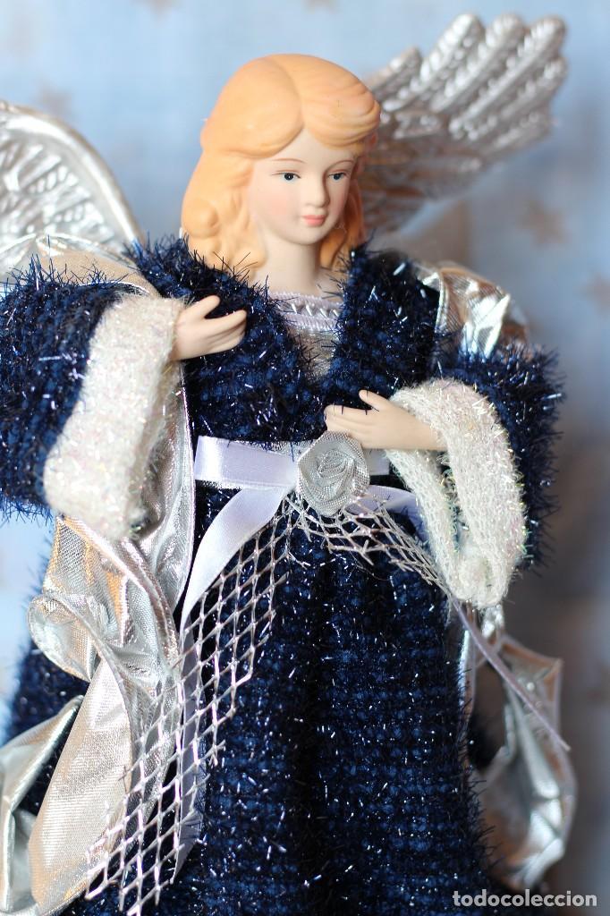Figuras de Belén: IMAGEN ANGEL BELEN DE TELA Y PORCELANA BISCUIT AÑOS 80 ESTILO NAPOLITANO - Foto 6 - 77501153