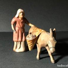 Figuras de Belén: ANTIGUA FIGURA DE BELÉN . PLOMO.. Lote 79157421