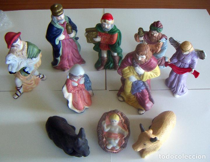 10 FIGURAS DE BELÉN DE CERAMICA O PORCELANA (Coleccionismo - Figuras de Belén)