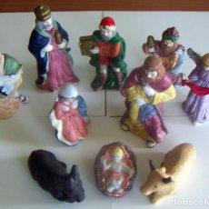 Figuras de Belén: 10 FIGURAS DE BELÉN DE CERAMICA O PORCELANA. Lote 84535436