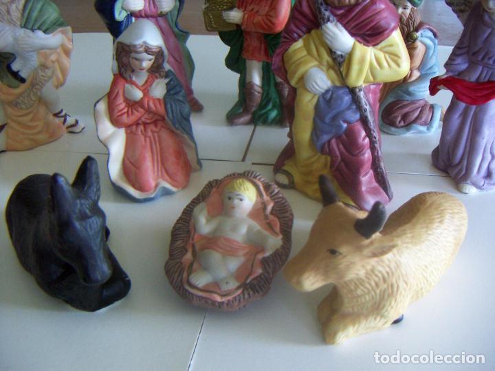 Figuras de Belén: 10 figuras de Belén de ceramica o porcelana - Foto 2 - 84535436