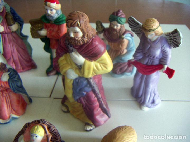 Figuras de Belén: 10 figuras de Belén de ceramica o porcelana - Foto 4 - 84535436