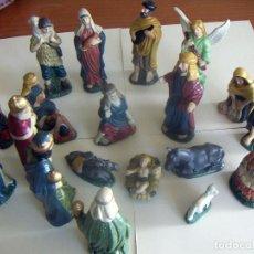Figuras de Belén: 20 FIGURAS DE BELÉN DE CERAMICA O PORCELANA. Lote 84535680