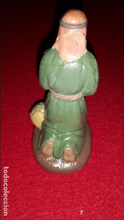 Figuras de Belén: figura de belen de arcilla pintada, Vila, Albacete. - Foto 2 - 87177736