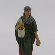 Figuras de Belén: FIGURA DE BELEN DE TERRACOTA TIPO CASTELL, MIDE 12,4 CMS. APROXIMADAMENTE. VER TODAS LAS FOTOGRAFIAS. Lote 90953420