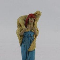 Figuras de Belén: FIGURA DE BELEN DE TERRACOTA TIPO CASTELL, MIDE 13 CMS. APROXIMADAMENTE. VER TODAS LAS FOTOGRAFIAS P. Lote 90953855