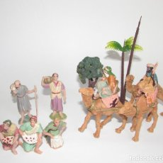 Figuras de Belén: REYES MAGOS Y FIGURAS DEL BELEN - LOTE VINTAGE. Lote 91483480