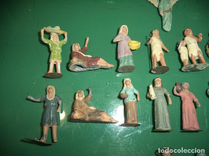 Figuras de Belén: LOTE DE FIGURAS PESEBRE EN PLOMO - Foto 4 - 92723575