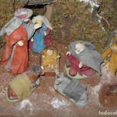Figuras de Belén: OFERTA DIORAMA GRANDE BELEN COMPOSICION PORTAL CON REYES MAGOS FIGURAS CON ROPA AUTENTICA Y CASAS. Lote 93578330