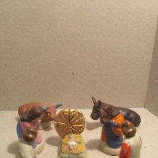 Figuras de Belén: FIGURAS PARA BELEN(PESEBRE) NACIMIENTO CON PASTORES. Lote 96985663