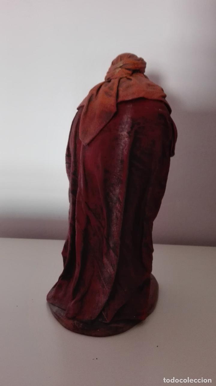 Figuras de Belén: Figura de rey melchor adorando para Belén pesebre nacimiento - Foto 2 - 100494563