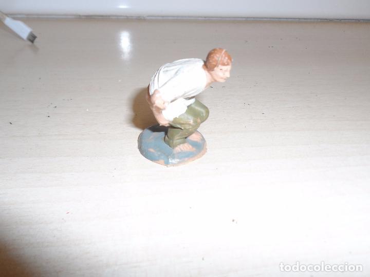 FIGURA DE BELEN PESEBRE CAGANER AÑOS 60 (Coleccionismo - Figuras de Belén)