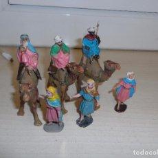 Figuras de Belén: LOTE DE FIGURAS DE BELEN PESEBRE CAMELLOS REYES Y PAJES AÑOS 60. Lote 101643099