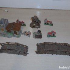 Statuine di Presepe: LOTE DE FIGURAS DE BELEN PESEBRE CASAS Y PUENTES AÑOS 60. Lote 101643643