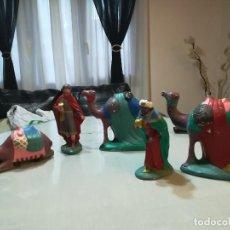 Figuras de Belén: FIGURAS REYES MAGOS. Lote 102629363
